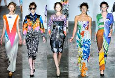 Basso Brooke - London Fashion Week SS12, my my, your prints are delicious!