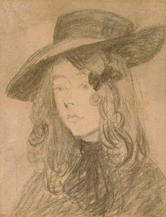 Winifred John in a large hat Posters & Art Prints by Gwen John - Magnolia Box