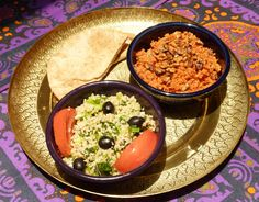 Tabbouleh Salad and Toasted Walnut Couscous