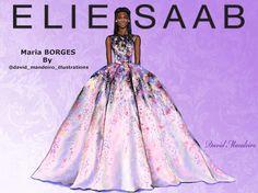 Maria Borges in Elie Saab Haute Couture 2014 by David Mandeiro.