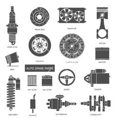 Set of auto spare parts Car repair icons in flat on VectorStock