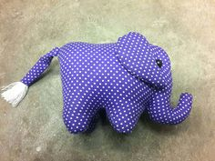 Thai elephant doll made from cotton with traditional Thai style.    Size 17 cm+tail 10 cm    . For more details : https://www.etsy.com/shop/SiamArtisan