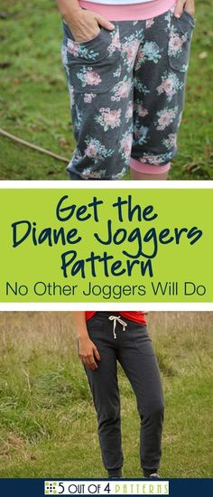 These are not your average joggers! Our Diane Joggers are not too tight, not too loose and definitely not frumpy. Learn more about this pattern here. #5outof4patterns #dianejoggers #joggerspattern #sweatpantspattern #joggers #sweatpants #diyjoggers #wo