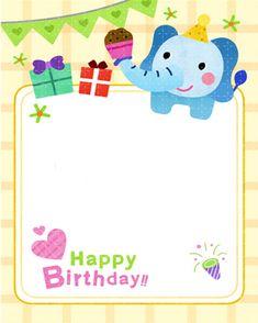 생일편지지 & 메모지 모음 ♡ : 네이버 블로그 Backdrop Decorations, Backdrops, Birthday Frames, Happy Birthday Cards, Cartoon Kids, Diy And Crafts, Card Making, Lettering, Creative