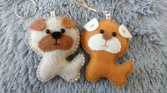 Felt Dog / Valentine Gift / Christmas Ornament/ Key by MyCraft2You