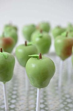 Cutest Glazed Green Apple Cake Pops