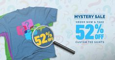 Uncover huge mystery savings: 52% off custom t-shirts, plus free shipping! Hurry, #sale ends 10/12. Get started here: http://www.alliedshirts.com/?utm_source=facebook&utm_campaign=SOC52OCTMYSTERY&pcode=61535574665271574870516A436B515A72464F734C673D3D
