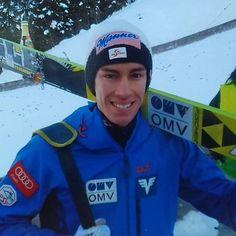Stefan Kraft, WC Titisee-Neustadt 2015. ©ME  @kraftstefan  vielen Dank dafür! :-) #skispringen #skijumping #skispringer #skijumper #stefankraft #teamaustria #österreich #titiseeneustadt #coldmemories #fun