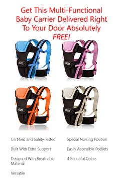 Right now we are giving away this incredible baby carrier absolutely free! just pay shipping and handling.