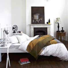 I'd love an old fire place in the bedroom