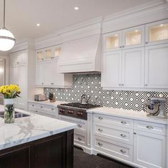 Calacatta Labrinto Porcelain Mosaic – 12 x 12 – 100465350 - Modern Home Decor Kitchen, Rustic Kitchen, Interior Design Kitchen, Kitchen Furniture, New Kitchen, Home Kitchens, Kitchen Ideas, Luxury Kitchens, Furniture Design