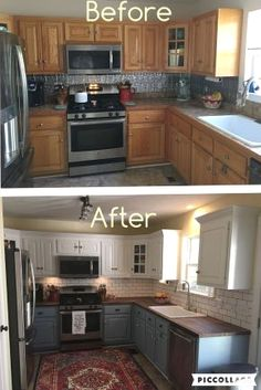 Simple and Modern Tips Can Change Your Life: Mid Century Kitchen Remodel Bathroom Vanities kitchen remodel modern stove.Small Kitchen Remodel No Window. Diy Kitchen Remodel, Diy Kitchen Cabinets, Kitchen Paint, Kitchen Redo, New Kitchen, Kitchen Ideas, Kitchen Counters, Vintage Kitchen, Kitchen Cupboard