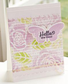 Blissful Butterflies; Art Expression Text; Blissful Butterflies DIe-namics; Blueprints 4 Die-namics; Rose Bilder Stencil - Lisa Johnson
