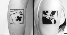 29 Simple Yet Gorgeous Boxed Illustration Tattoos by Yi Stropky