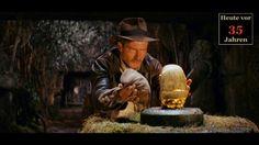 """Die zehn besten Indiana-Jones-Momente - Am 19. Juli 2019 ist es so weit: Indiana Jones 5 kommt in die Kinos. Das noch unbetitelte neue Abenteuer des Archäologen wird wieder einmal Steven Spielberg und Harrison """"It's the Years, Not The Mileage"""" Ford, dann ist er 77, vereinen."""