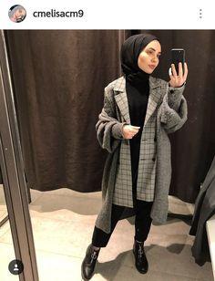 Modern Hijab Fashion, Muslim Women Fashion, Street Hijab Fashion, Kimono Fashion, Korean Fashion, Casual Hijab Outfit, Hijab Chic, Hijab Style Tutorial, Hijab Fashionista