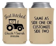 Wedding Can Coolers Beverage Insulators Koozies Personalized Wedding Favors…