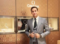 Chad le Clos for @omega dressed by @frankbespoke --- FIND YOUR FIT AT FRANK BESPOKE#fitforeverygentleman --- CONTACT YOUR NEAREST STYLE… Light Grey Suits, Yg Ent, Suit Jacket, Breast, Bespoke, Omega, Fitness, Jackets, Dresses
