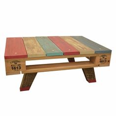 Mesa Ratona Meliquina - DecoGallery Palette Furniture, Diy Pallet Furniture, Deco Furniture, Refurbished Furniture, Handmade Furniture, Furniture Making, Furniture Design, Pallet Crates, Wood Pallets