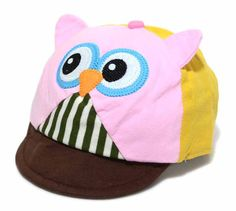 Cute Baby Baseball Cap Owl Style; Boys and Girls Baseball Hat; Children Peaked cap