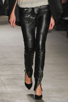 It'll be a really chilly day in Hell before I try to pull off (or on) leather pants, but if that day were to come, these would be those pants.