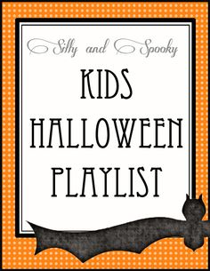 Halloween Music Kids Playlist - fun Halloween songs to listen to during the month of October.