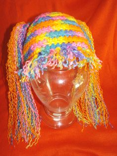 Crochet Baby Hat rainbow doll wig by DarleneMoon on Etsy, $25.00