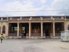 Fachada lateral da Estação de Trem_Nazaré_Bahia_Brasil