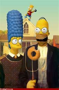 Homer and Marge on the Farm