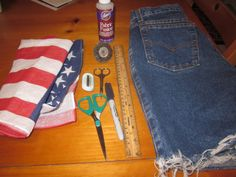 DIY: American Flag High Waisted Shorts | The Fashion Bible