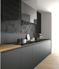 6 Inviting Cool Tips: Minimalist Home Plans Apartment Therapy minimalist interior office storage.Colorful Minimalist Home Kids Rooms minimalist decor living room loft. New Kitchen, Kitchen Dining, Kitchen Decor, Kitchen Cabinets, Black Cabinets, Kitchen Island, Interior Design Minimalist, Interior Design Kitchen, Diy Interior