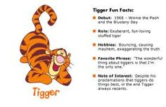 Tigger ~ Tigger Fun Facts The Beginning of Tigger Disney, Tigger And Pooh, Winne The Pooh, Winnie The Pooh Quotes, Pooh Bear, Eeyore, Christopher Robin, Disney Fun Facts, Disney Quotes