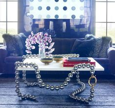 necklace table...jewelry inspired furniture by Mattia Bonetti