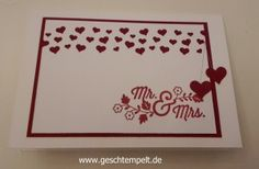 stampin up hochzeit, einladung, herzkonfetti, for the new two, Wedding, Invitation