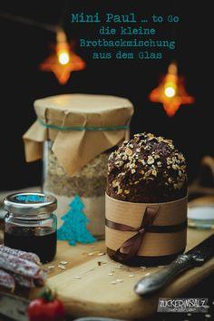 Mini Paul … to Go … die kleine Brotbackmischung aus dem Glas bread mix in a jar Mini Desserts, Layered Desserts, Lemon Desserts, Fall Desserts, Pot Mason, Mason Jars, Diy Food Gifts, Diy Snacks, Bread Mix