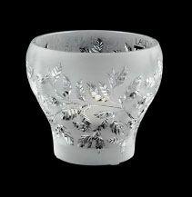 Lalique Crystal Bowls: Lalique  Basil Bowl