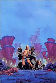 Richard Hescox, Amtor 3-Carson of Venus by ERB.