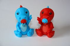Just too adorable to eat. Edible Fondant Cake Toppers- Baby Dragons. $14.00 USD, via Etsy.