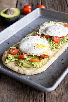 Egg and California Avocado Breakfast Flatbread Recipe - Dine and Dish