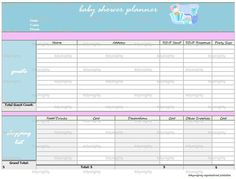 printable baby shower planner / baby shower checklist | baby ...