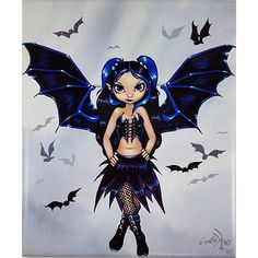 Bat Wings Art Tile Jasmine Becket Griffith 10 x 8 inch Fairy Fantasy m265