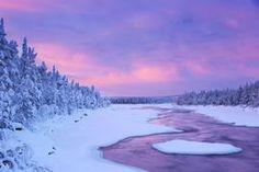 River rapids in a frozen landscape