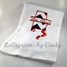 Custom Auburn War Eagle Dish Towel by Lolligrams on Etsy