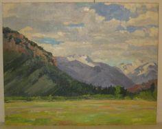 CHARLES WOODBURY SCHOOL MOUNTAIN LANDSCAPE OIL PAINTING - ESTATE FRESH VINTAGE #Impressionism