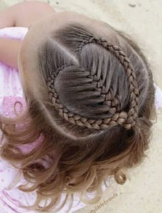 Cute Mermaid Heart Braid For Valentine's Day Hairstyles 2016 Little Girl Braids, Girls Braids, Braids For Kids, Cute Girls Hairstyles, Braided Hairstyles, Hairstyles Pictures, Straight Hairstyles, Simple Hairstyles, Teenage Hairstyles
