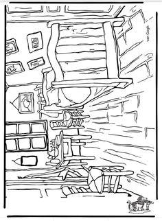 Van gogh coloring page