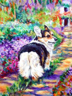 Pembroke Welsh Corgi lovely Giclee Fine Art Print by DogArtByLyn, $19.94