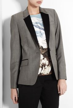 Paul Smith Black  Taupe Rivere One Button Jacket