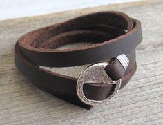 Men's Bracelet - Men's Geometric Bracelet - Men's Brown Bracelet - Men's Leather Bracelet - Men's Jewelry - Bracelets For Men - Gift for Him