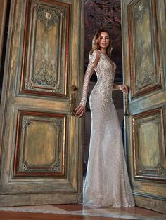 The Bella wedding gown from the Le Secret Royal Collection by Galia Lahav is a wedding dress from a dream, the embroidery on the gown is precise and meets every standard of a royal wedding from head to toe.